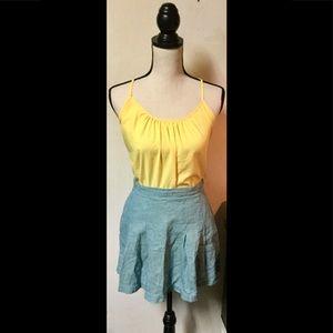Green Nike Checkered Pleated Mini Skirt, Sz. 10